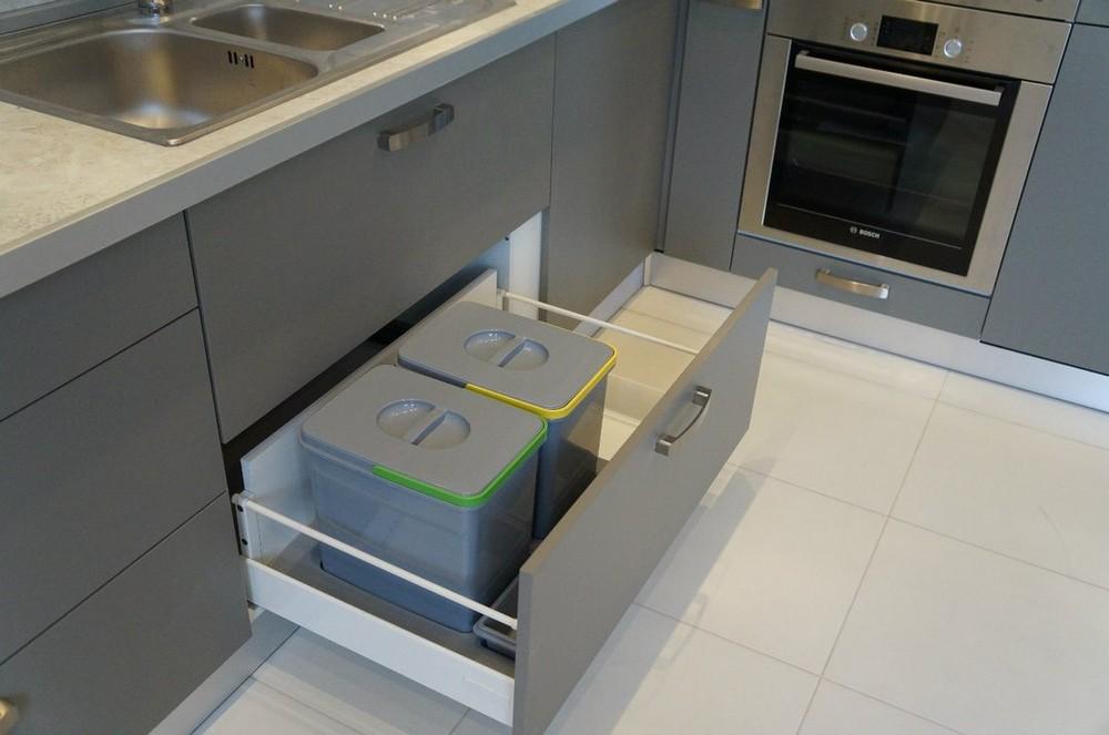 Белый кухонный гарнитур-Кухня из ЛДСП «Модель 196»-фото3