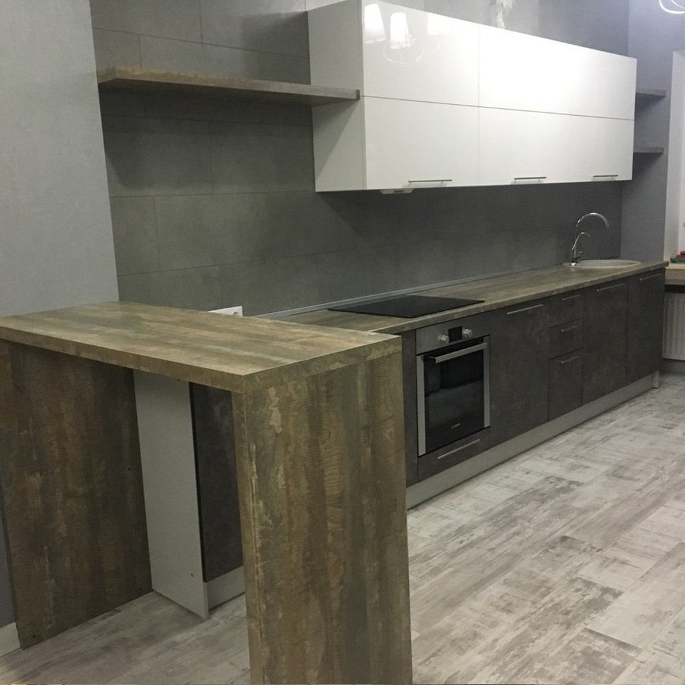 Акриловые кухни-Кухня МДФ в эмали «Модель 159»-фото1