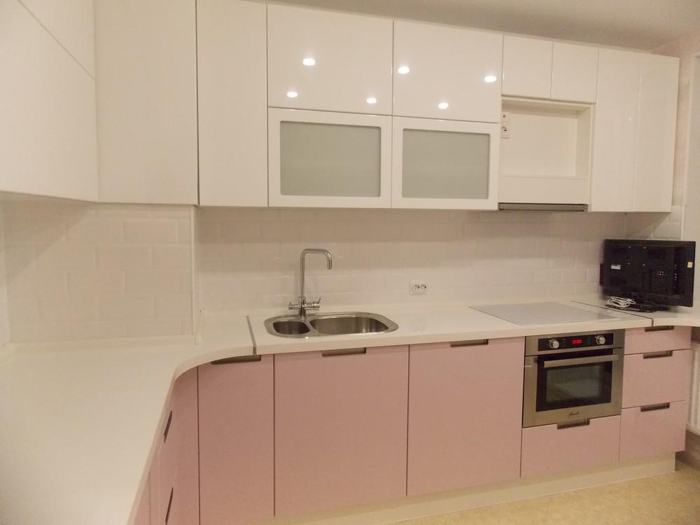Белый кухонный гарнитур-Кухня МДФ в ПВХ «Модель 193»-фото7
