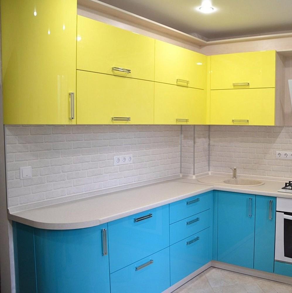 Акриловые кухни-Кухня МДФ в эмали «Модель 167»-фото1