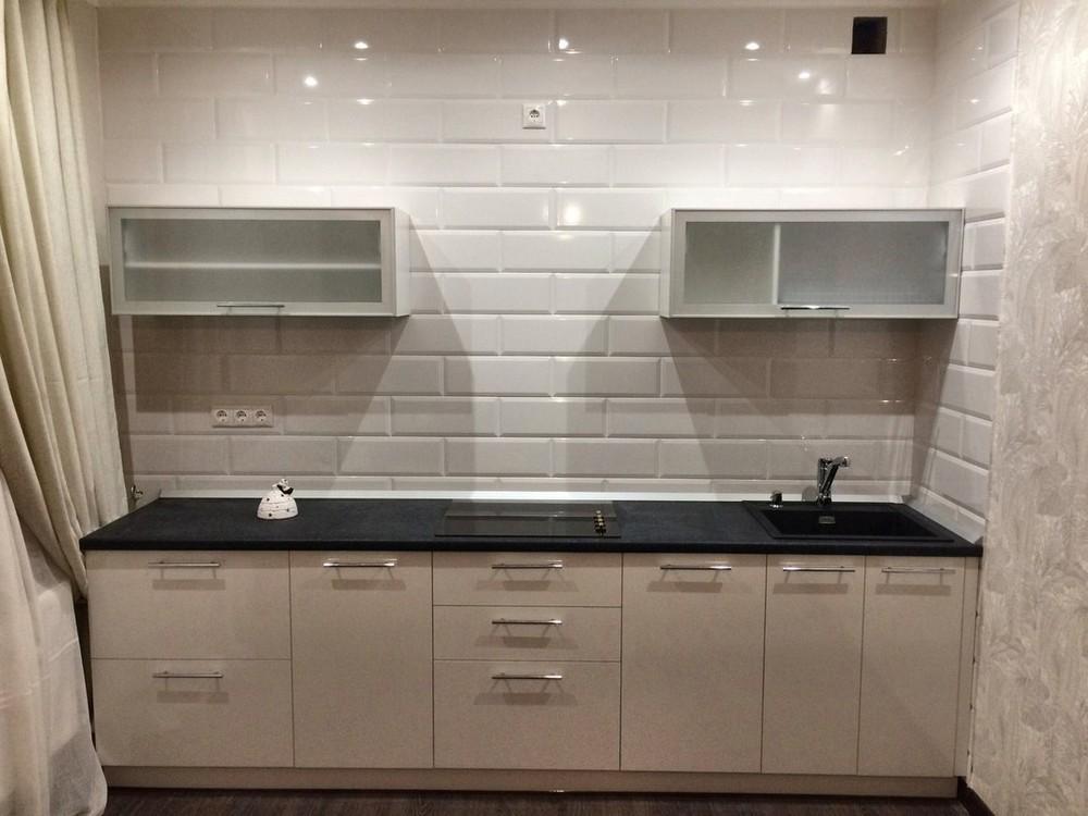 Белый кухонный гарнитур-Кухня МДФ в ПВХ «Модель 158»-фото5
