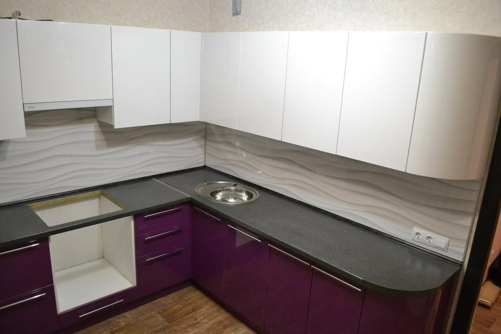 Встроенная кухня-Кухня МДФ в ПВХ «Модель 161»-фото2