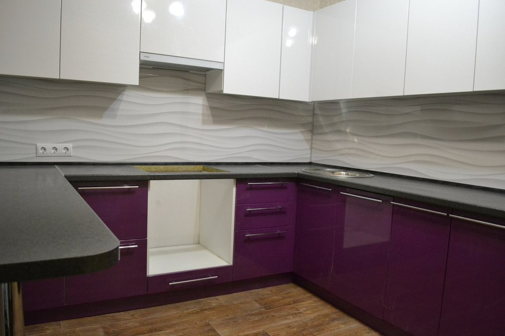 Встроенная кухня-Кухня МДФ в ПВХ «Модель 161»-фото3