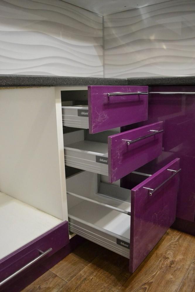 Встроенная кухня-Кухня МДФ в ПВХ «Модель 161»-фото6