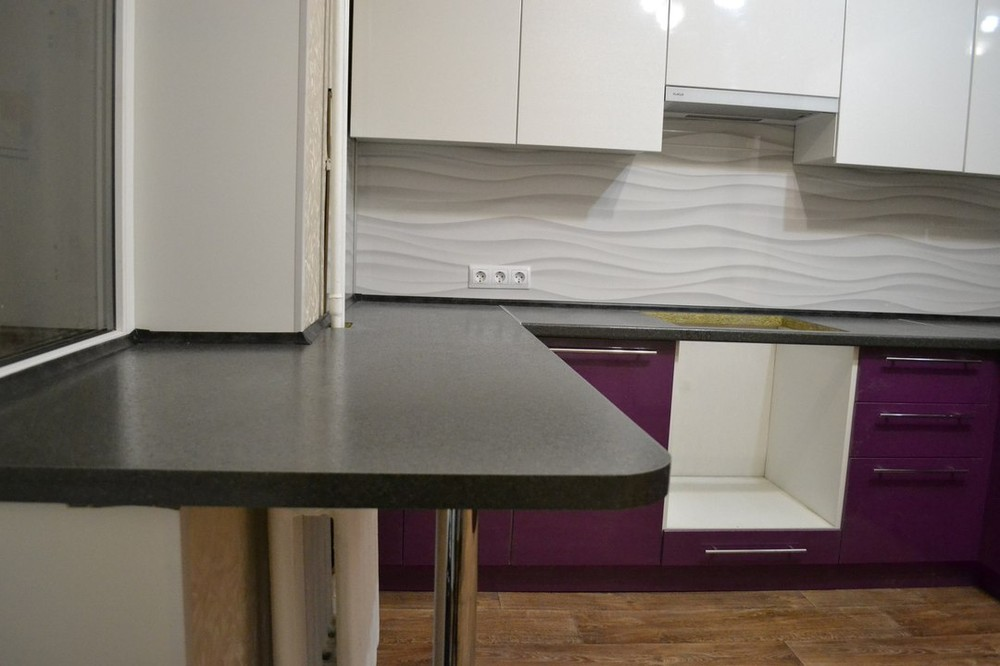 Встроенная кухня-Кухня МДФ в ПВХ «Модель 161»-фото7