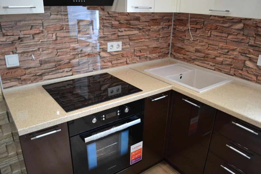 Кухни на заказ-Кухня МДФ в ПВХ «Модель 177»-фото3