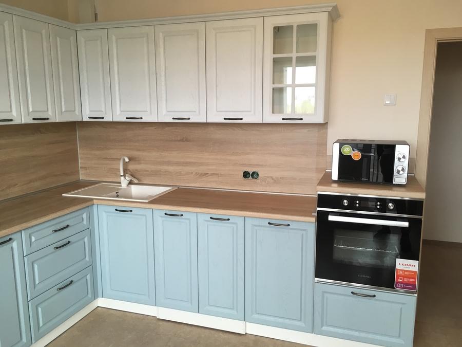 Белый кухонный гарнитур-Кухня МДФ в ПВХ «Модель 65»-фото2
