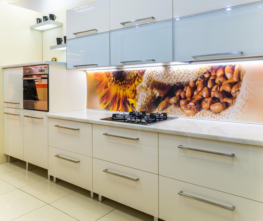Белый кухонный гарнитур-Кухня МДФ в пластике «Модель 56»-фото2