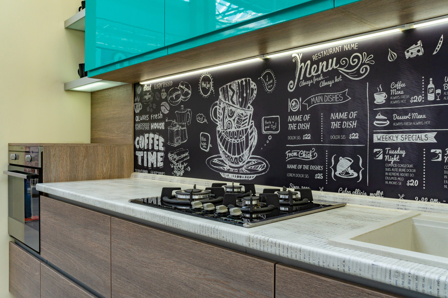 Встроенная кухня-Кухня МДФ в эмали «Модель 49»-фото4