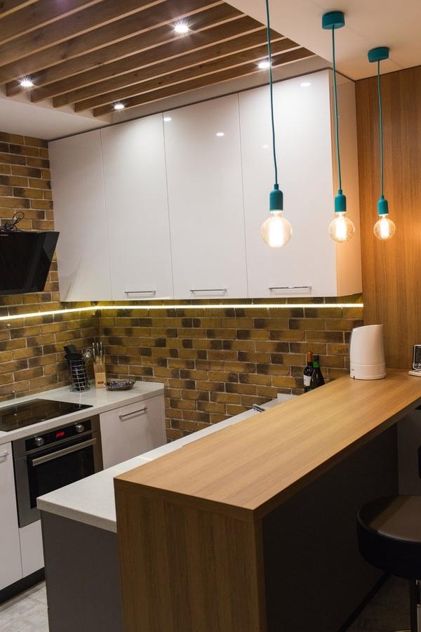 Купить желтую кухню-Кухня МДФ в пластике «Модель 12»-фото3