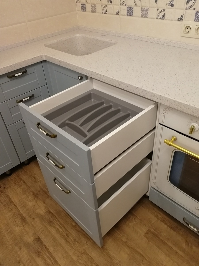 Классические кухни-Кухня МДФ в ПВХ «Модель 28»-фото12