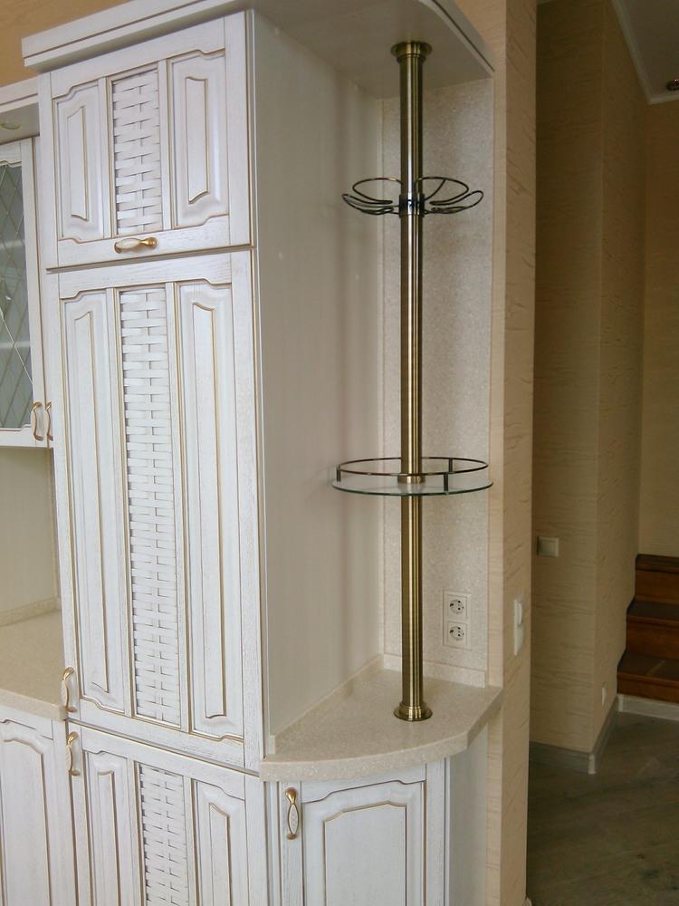 Белый кухонный гарнитур-Кухня из шпона «Модель 341»-фото3