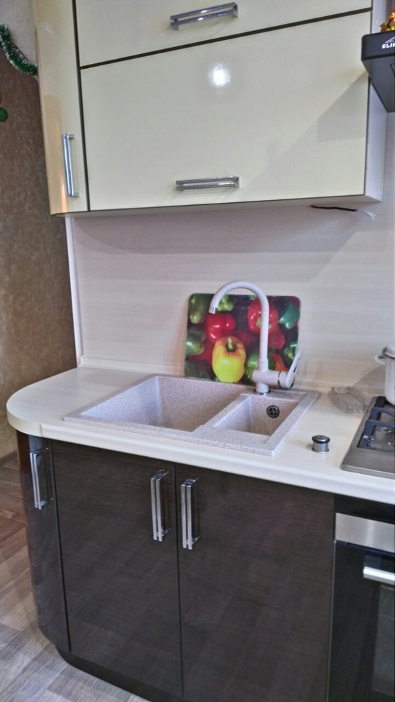 Кухни на заказ-Кухня из шпона «Модель 344»-фото3