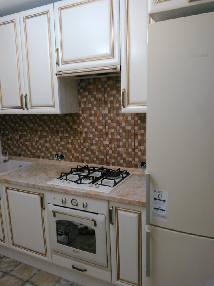 Белый кухонный гарнитур-Кухня МДФ в ПВХ «Модель 340»-фото3