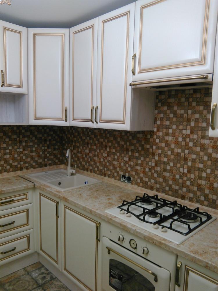 Белый кухонный гарнитур-Кухня МДФ в ПВХ «Модель 340»-фото5