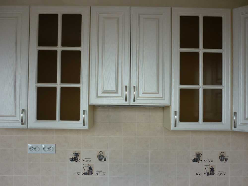 Белый кухонный гарнитур-Кухня МДФ в ПВХ «Модель 169»-фото4