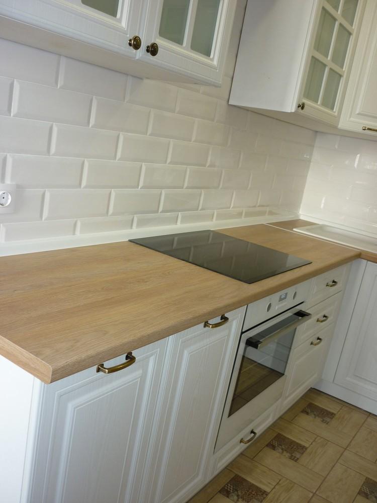 Белый кухонный гарнитур-Кухня МДФ в ПВХ «Модель 307»-фото2