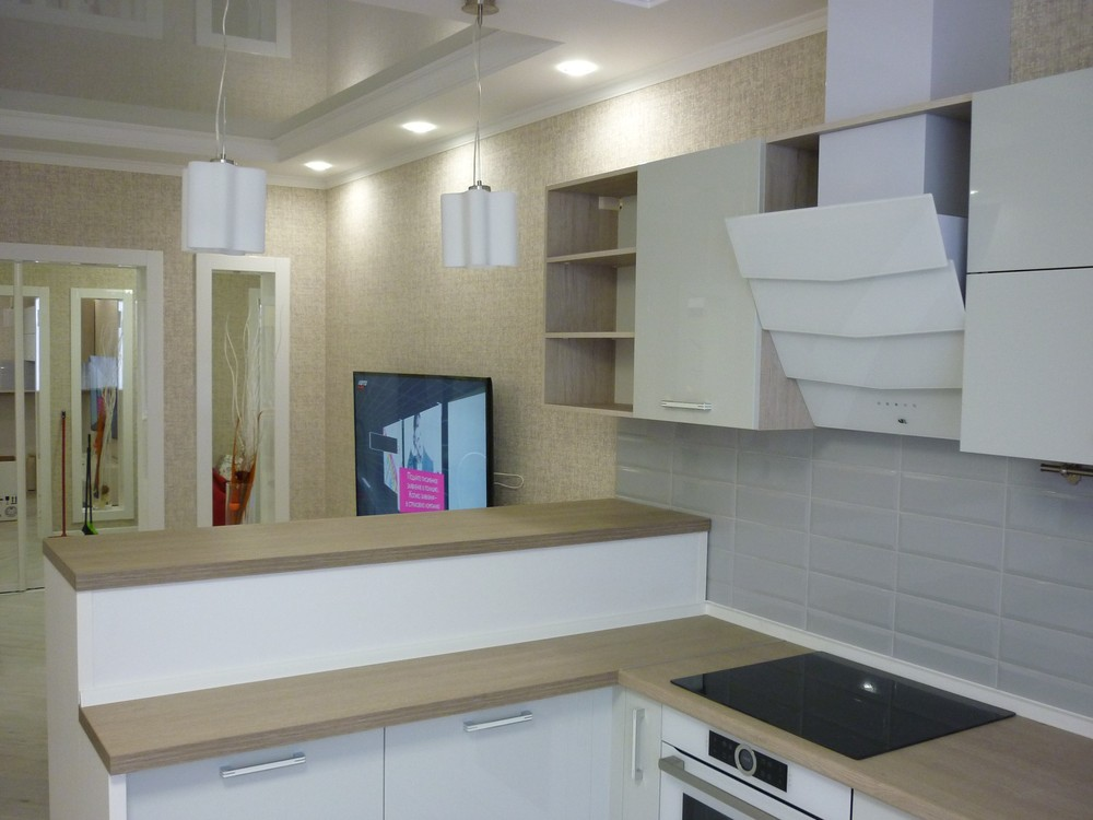 Акриловые кухни-Кухня из пластика «Модель 319»-фото1