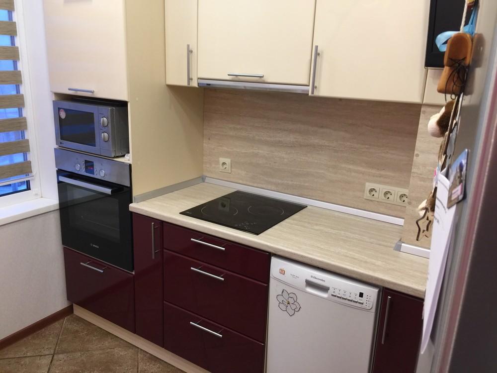 Белый кухонный гарнитур-Кухня МДФ в ПВХ «Модель 359»-фото3