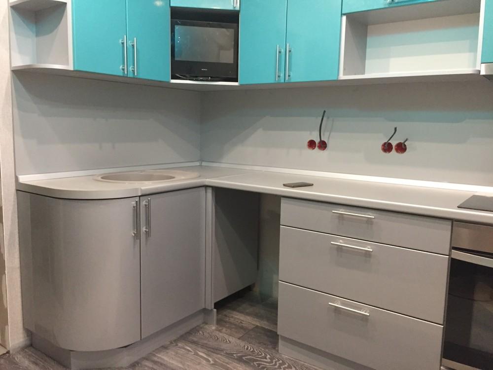 Встроенная кухня-Кухня МДФ в ПВХ «Модель 357»-фото4