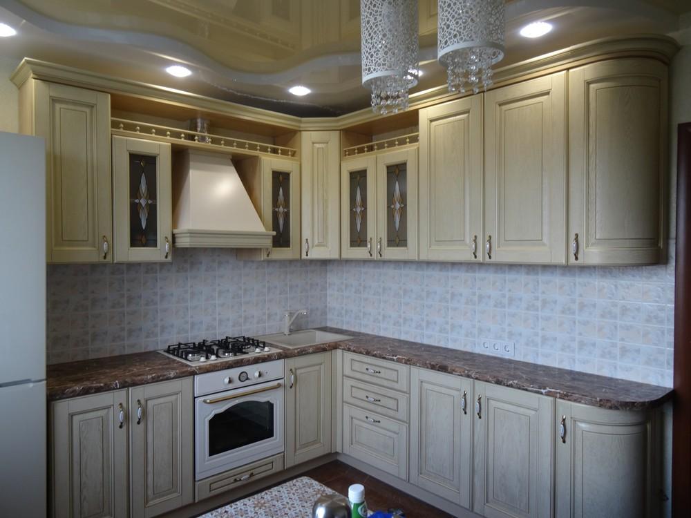 Белый кухонный гарнитур-Кухня из массива «Модель 21»-фото4