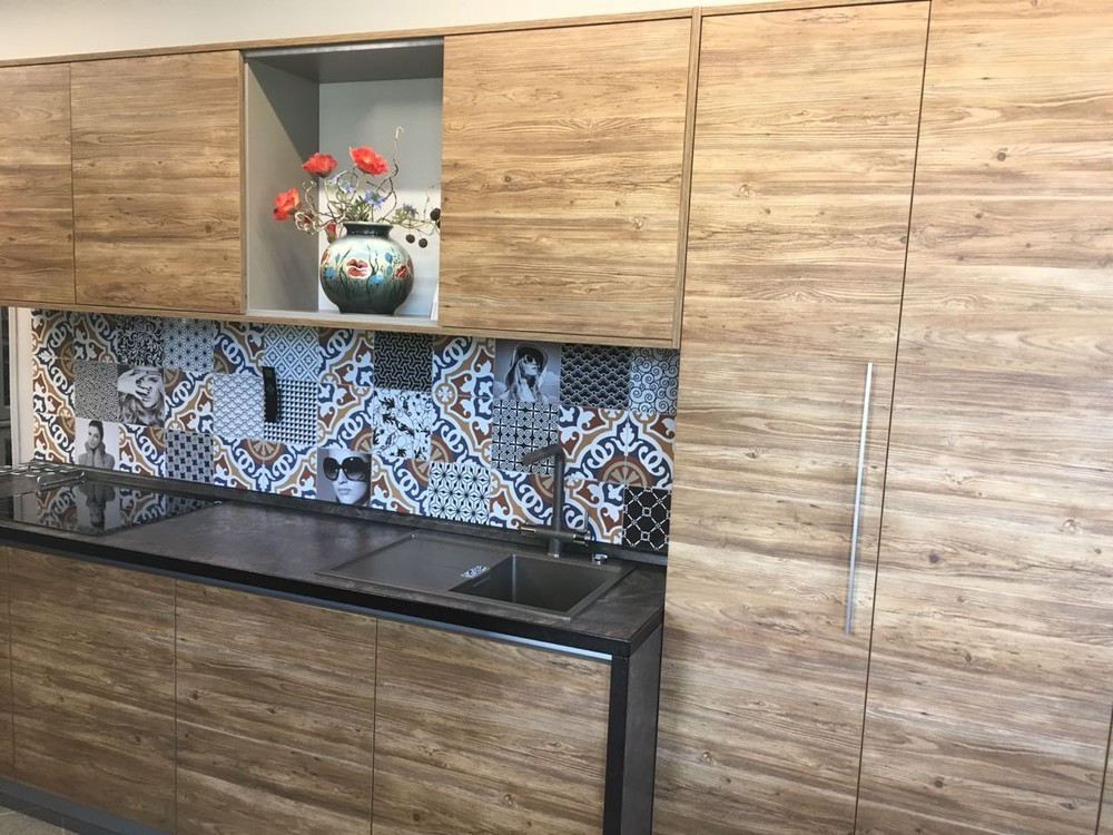 Акриловые кухни-Кухня из пластика «Модель 347»-фото2