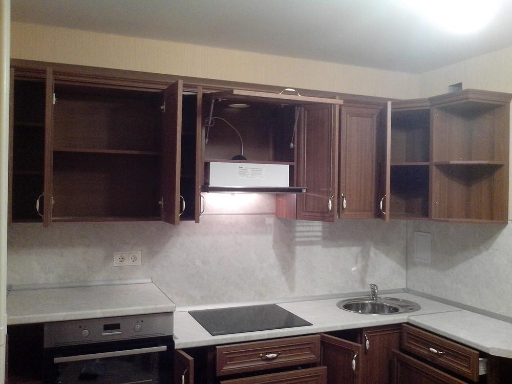 Акриловые кухни-Кухня из пластика «Модель 331»-фото1