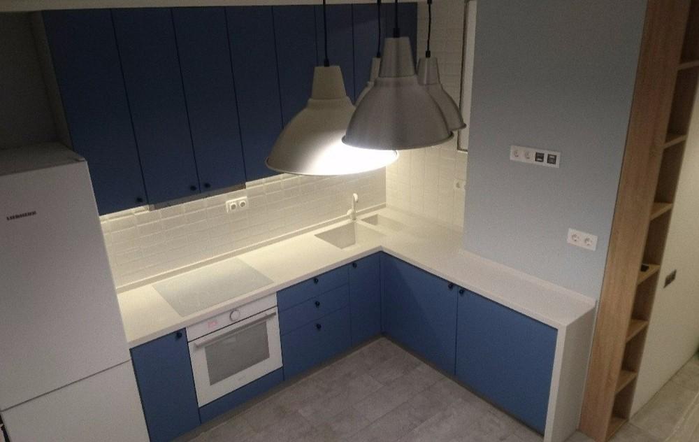 Встроенная кухня-Кухня МДФ в ПВХ «Модель 117»-фото3