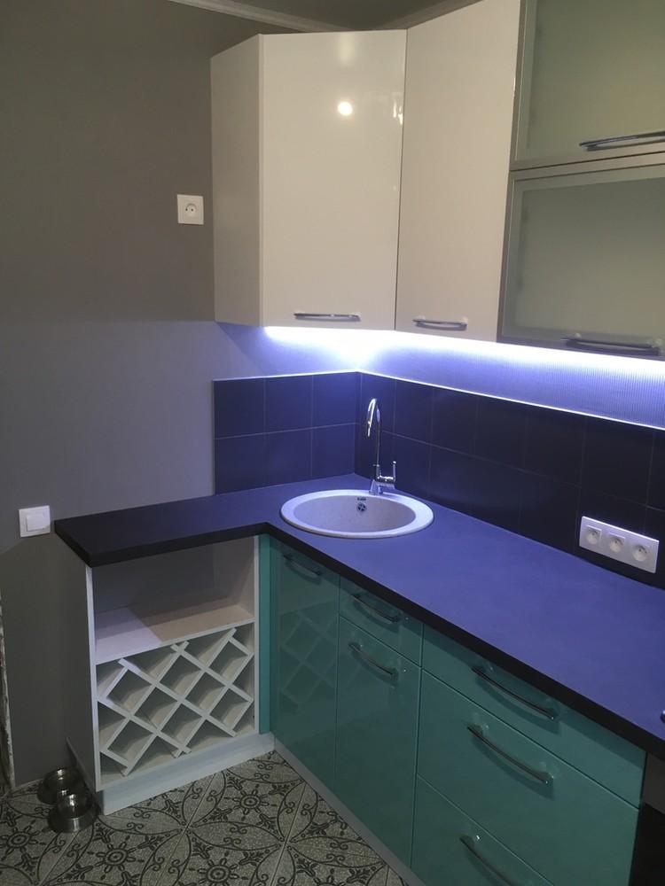 Белый кухонный гарнитур-Кухня МДФ в ПВХ «Модель 320»-фото3