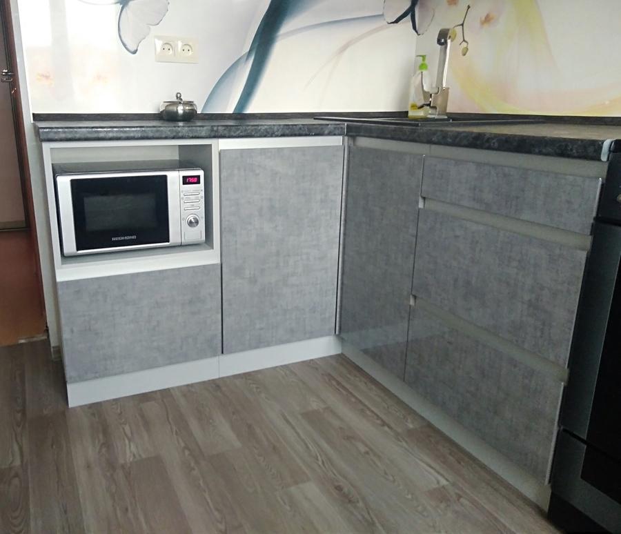 Белый кухонный гарнитур-Кухня из пластика «Модель 191»-фото4
