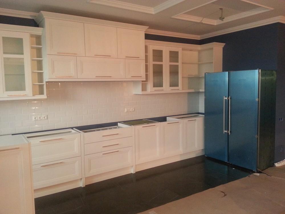 Белый кухонный гарнитур-Кухня МДФ в ПВХ «Модель 210»-фото3