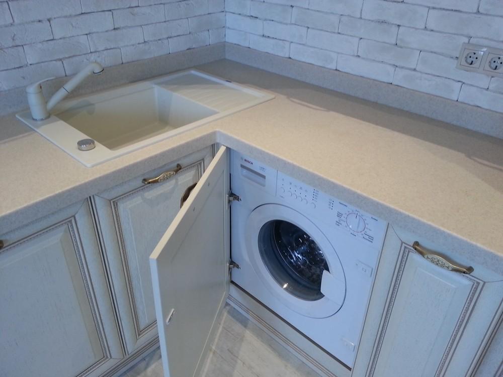 Белый кухонный гарнитур-Кухня из массива «Модель 276»-фото5