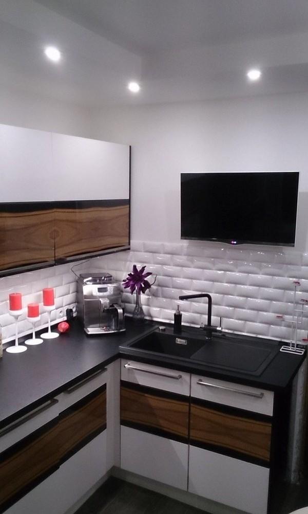 Встроенная кухня-Кухня МДФ в ПВХ «Модель 258»-фото3