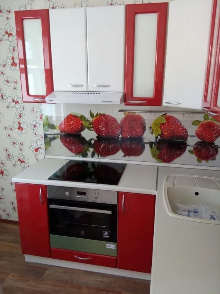 Встроенная кухня-Кухня МДФ в ПВХ «Модель 256»-фото1