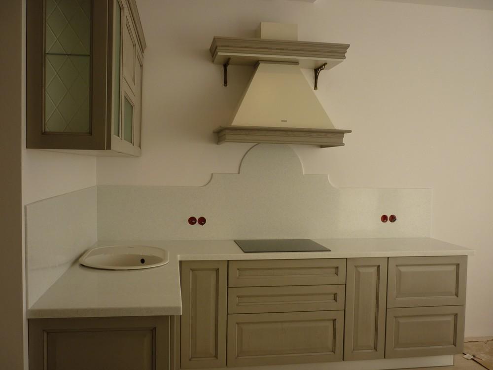 Белый кухонный гарнитур-Кухня МДФ в ПВХ «Модель 255»-фото3