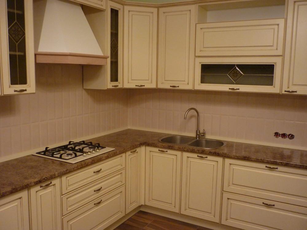 Белый кухонный гарнитур-Кухня из массива «Модель 242»-фото2