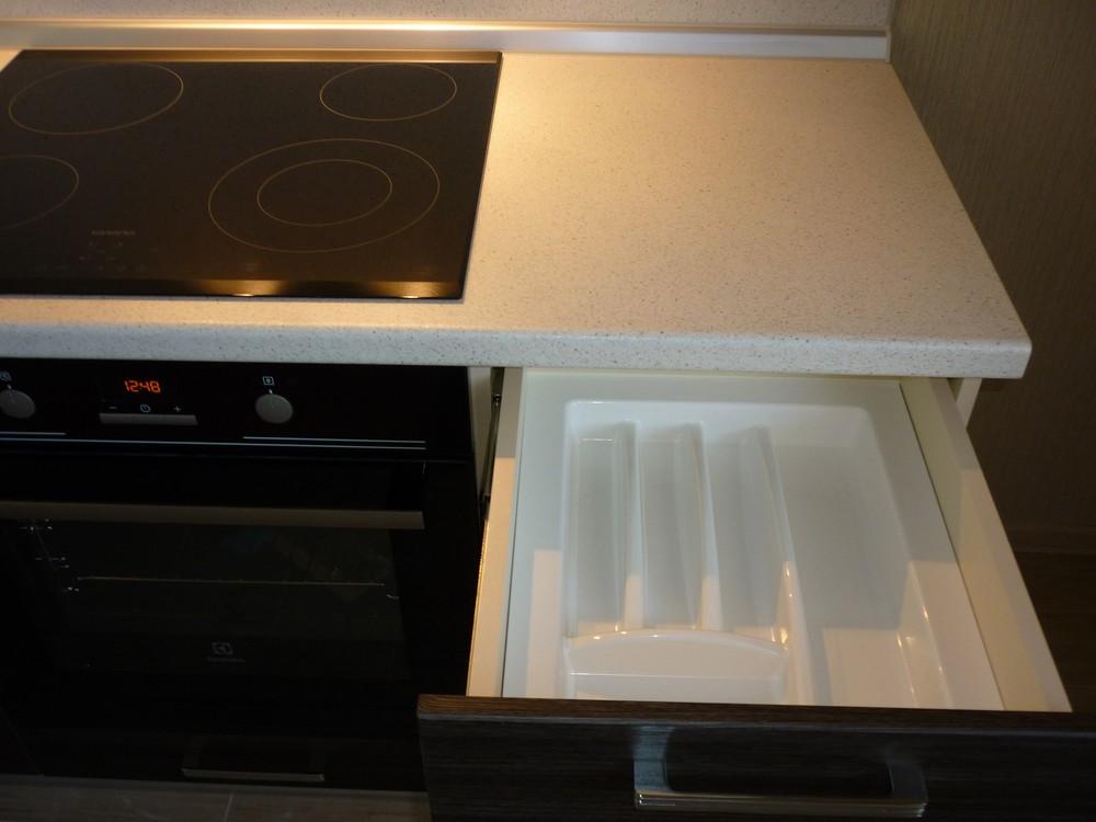 Встроенная кухня-Кухня МДФ в ПВХ «Модель 233»-фото4