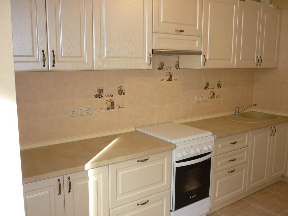 Белый кухонный гарнитур-Кухня МДФ в ПВХ «Модель 222»-фото2