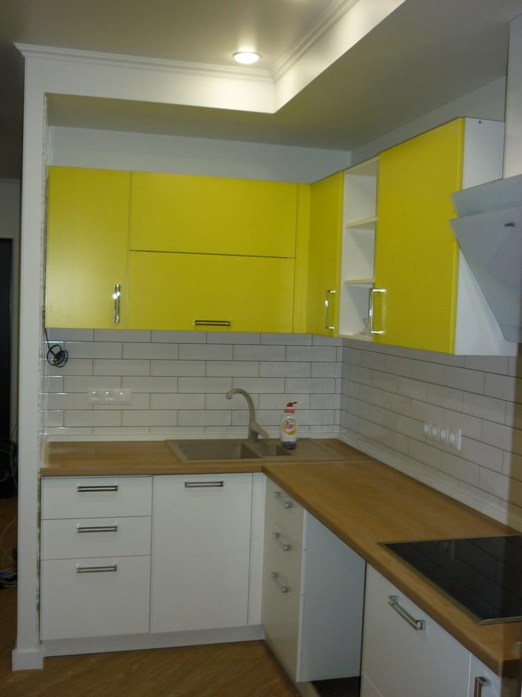Акриловые кухни-Кухня из пластика «Модель 225»-фото4