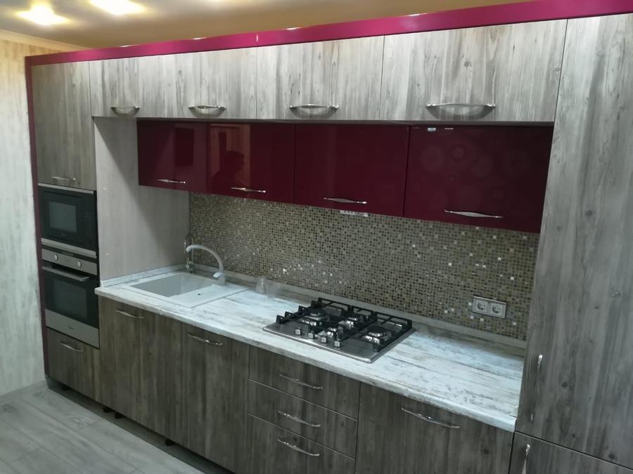 Встроенная кухня-Кухня из ЛДСП «Модель 378»-фото1