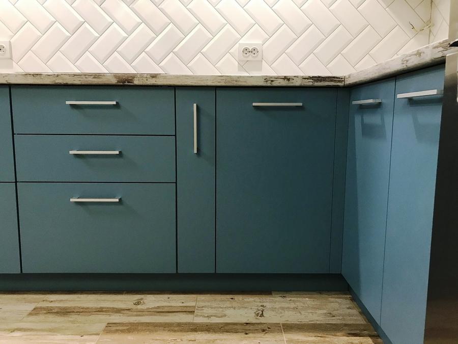 Комбинированные кухни-Кухня из пластика «Модель 373»-фото4