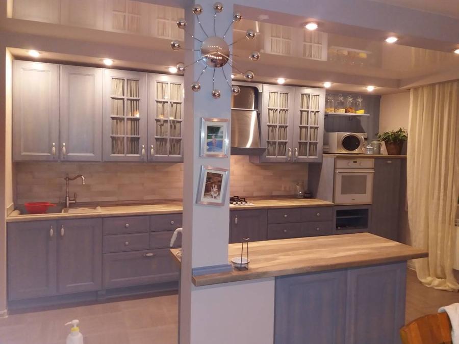Встроенная кухня-Кухня из массива ясеня «Модель 490»-фото1