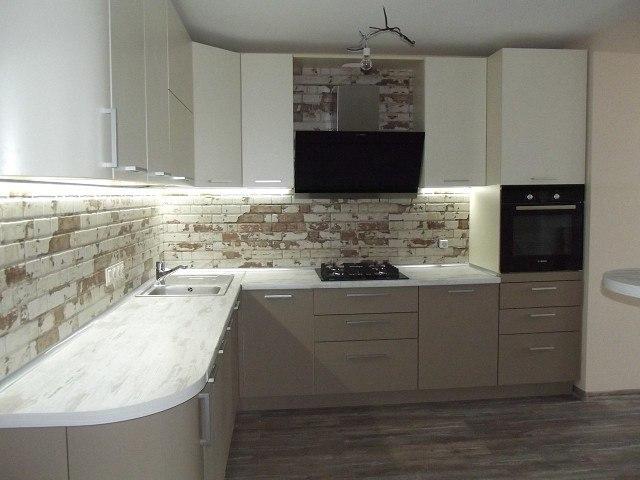 Белый кухонный гарнитур-Кухня из пластика «Модель 399»-фото3