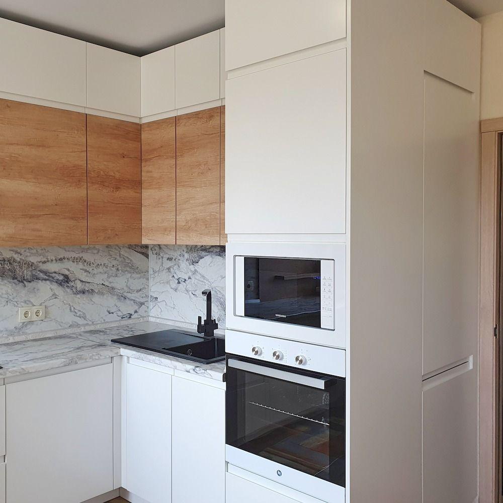 Белый кухонный гарнитур-Кухня МДФ в эмали «Модель 526»-фото3