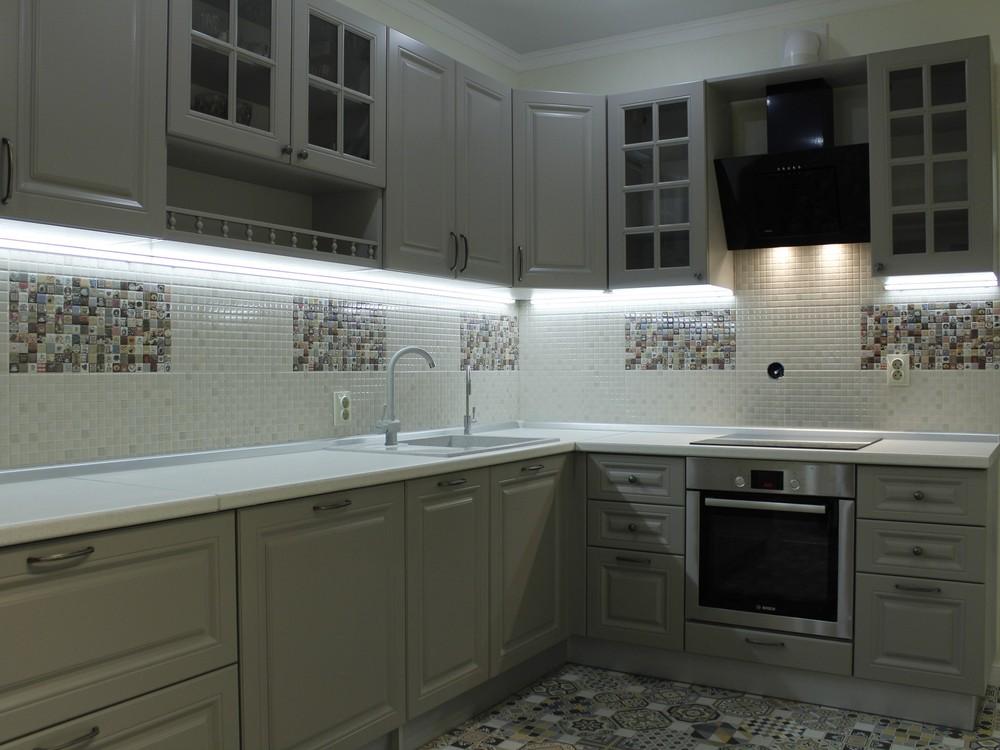 Встроенная кухня-Кухня из массива «Модель 157»-фото1