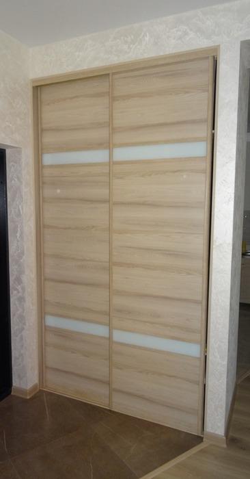 Встроенные шкафы-купе-Шкаф-купе из стекла Лакобель «Модель 46»-фото1