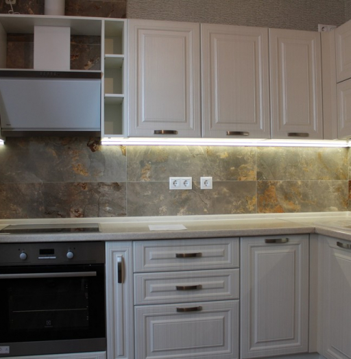 Белый кухонный гарнитур-Кухня МДФ в ПВХ «Модель 232»-фото6