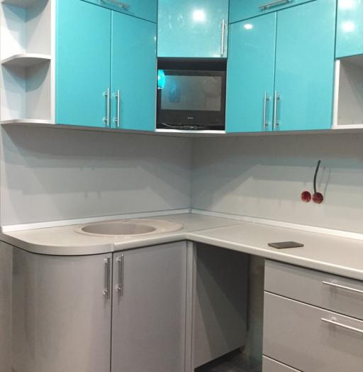 Встроенная кухня-Кухня МДФ в ПВХ «Модель 357»-фото5