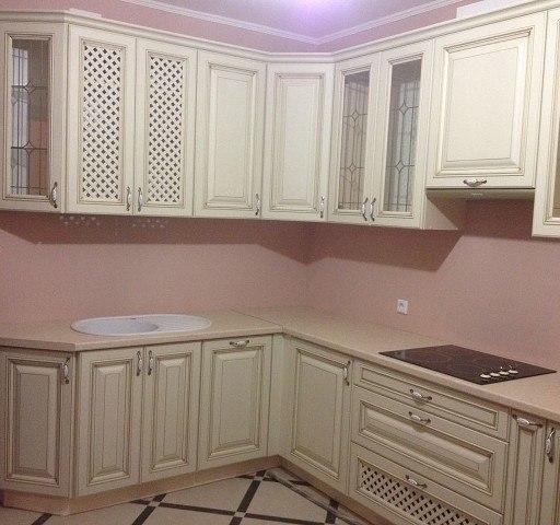 Белый кухонный гарнитур-Кухня МДФ в ПВХ «Модель 394»-фото3