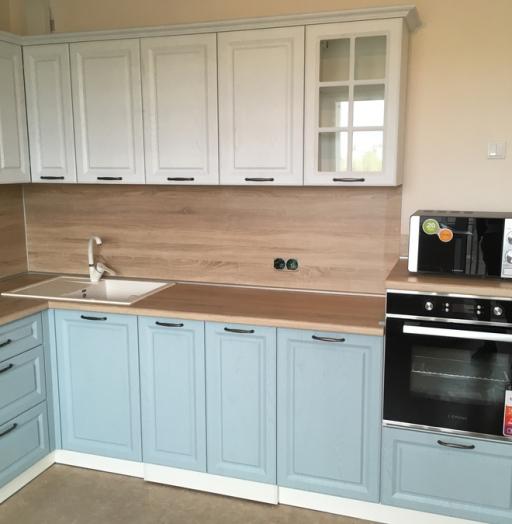 Белый кухонный гарнитур-Кухня МДФ в ПВХ «Модель 65»-фото3
